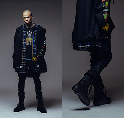 Dominic Grizzelle - Off White Mirror Mirror Shirt, Off White Mirror Patch Jacket, Yeezy Season 3 Boots - Mirror Mirror
