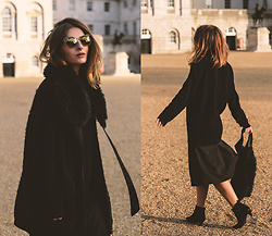 Denisia A. - Cos Midi Skirt, Calvin Klein Suede Boots, Cos Wool Coat - Cozy knitwear & fine jewelry