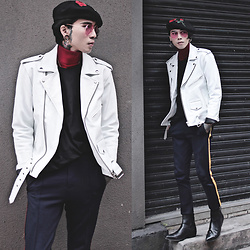IVAN Chang - Reclaimed Vintage Leather Jacket, Tastemaker 達新美 Pants, Asos Boots - 110217 TODAY STYLE