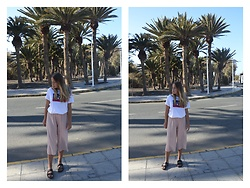 Kaja . - Zara Pants, Birkenstock Shoes, Levi's® T Shirt - IN PALM TREE LAND