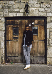DeiJon Marquis - Asos Denim Jacket, H&M Grey Skinny Jeans, Nike Air Force One - 003.5