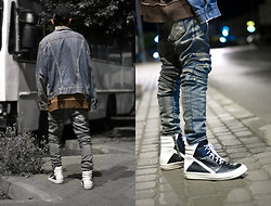 Younes Bouadi - Balmain Jeans, Rick Owens, Over Sized Sweater - Midnight