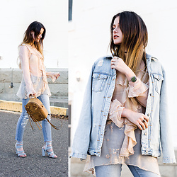 Shelly Stuckman - Tranquil Designs Bracelet, Noa Elle Top, Odd Molly Jeans, Guess Heels, Zara Jacket - Sheer Genius