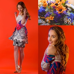 Fashion Artista - Eroke Dress, Ted Baker Heels - Flowers & Dresses