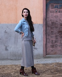 Jelena - New Look Maxi Dress, Mango Sweater, H&M Denim Jacket - Maxi dresses with long sleeves