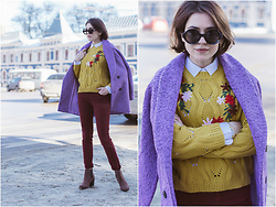 Katerina Lozovaya - Twinkledeals Coat, Zaful Sweater, Dresslink Glasses - Spring Essentials