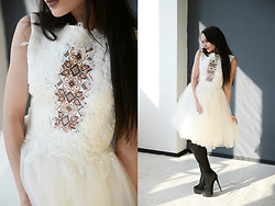 Ksenia Murashka - Murashka Design Dress - White embroidered dress