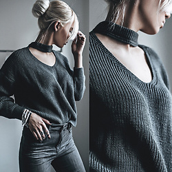Oksana Orehhova - Zaful Sweater - GREY MATTERS