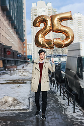 Vladimir Kachesov - Mango Trench Coat, Zara Sweater, Zara Pants, Reebok Sneakers - HAPPY BIRTHDAY