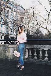 Tania - Zara Top, Levi's® Jeans, Gucci Bag, Public Desire Boots - LFW Day One Look