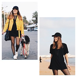 Mariana Galhardas - Zara Jacket, Forever 21 Dress, Bershka Cap - Yellow for the day