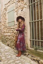 Alexe Bec - Free People Dress, American Apparel Floppy Hat, Nimal Boots - A Sunday in the South of France