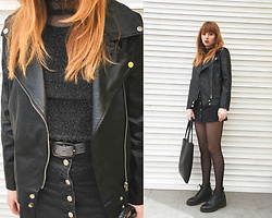 Kristina Magdalina - Poppy Lovers Jacket, Love Of Queen Top - ONLY BLACK.