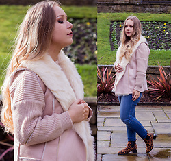 Emma Reay - Shein Pink Shearling Gilet - Pink on Pink