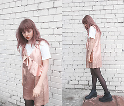 Kristina Magdalina - Zaful Top, Zaful Dress - ROSE GOLD.