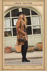 Alexe Bec - Louis Vuitton Purse, Mango Over The Knee Boots, Asos Beret, Vintage Skirt, Molly Bracken Turtle Neck Top - Un Dimanche à Grignan