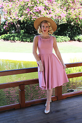 Kayla J - Stop Staring Noely Dress - Pretty in Pink