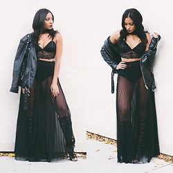 Morgan Bethel -  - I have a thing for sheer, leather & lace