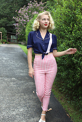Kayla J - Campbell Crafts Diner Shirt, Collectif Gingham Trousers - Diner Shirt