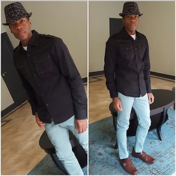 Thomas G - Irreverent Dress Shirt, Levi's 510 Strauss & Co, Kenneth Cole Dress Shoes, Westend Fedora - Piscean Season ; ) #2
