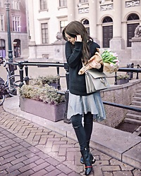 Lucila LC - Gucci Marmont Pearl Heel Boots Booties, Chloe Grey Large Faye Bag - Tulips on sunday