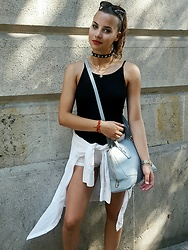 Urša - Vintage Gold Jewllery, Furla Bag, Zara Choker - Summer wind in Barcelona