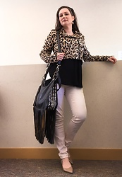 Joy H - H&M Leopard Print Jacket, H&M Peach Skinny Jeans - Come on and Play that Song