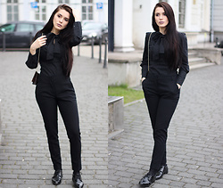 Justyna Lis - Zara Black Pants, Zara Black Shoes, Asos Black Shirt - Cloudy skies & total black look
