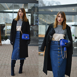 Monika Tremski - Dresslink Sweater, Dresslink Bag, Romwe Skirt - Into the blue