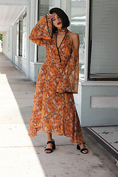 Joselin R - Nicholas Wrap Dress - BURNT ORANGE | VEUVE CLICQUOT CARNAVAL VIDEO