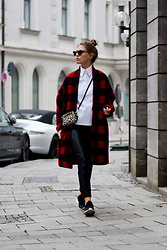 Swantje Sömmer | OffwhiteSwan - Isabel Marant Coat, Adidas Sneakers - Isabel Marant Coat, Leather Pants & Sneakers