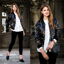 Jacky - Rebecca Minkoff Bag - Asian Silk Bomber Jacket