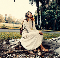 Thilda Mörlid Berglind - Free People Dress, Vintage Shoes - Dusk in the jungle