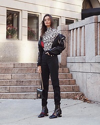 Gizele Oliveira - Made Me Top, Dsquared2 Jacket, Levi's® Pants, Gucci Bag, Gucci Boots - E a r t h  c r i s i s