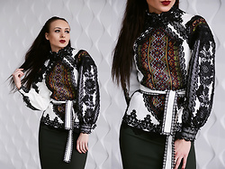 Ksenia Murashka - Murashka Design Blouse - Ethnic blouse with hand embroidery