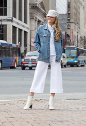 Lauren Recchia - Eugenia Kim Cadet Cap, Current/Elliott Denim Jacket, See By Chloé Top, Madewell Denim, Rag & Bone Booties - Cruise Control