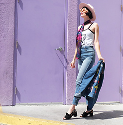 Amy Roiland - Betty And Veronica Tank, Betty And Veronica Jacket, Miista Shoes - Purple haze //