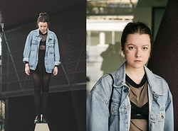 Astrid H - Dogdays Of Summer Denim Jacket, Zara Shirt - GLITTER AND DENIM