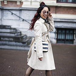 Lily T - River Island Trench Coat - ROCK & CLASSY