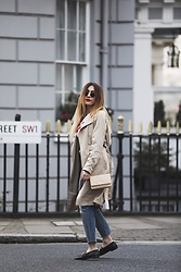 Tania - Zara Coat, Chanel Bag, Levis Jeans, Topshop Shoes - Trench Coat
