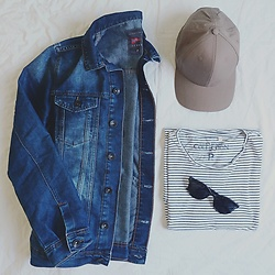 Mateus Alves - Chilli Beans Oculos, Riachuelo Denim Jacket, Renner Hat - Simple are a good idea