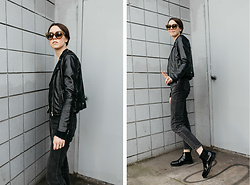 Katie Bauer - Céline Sunglasses, H&M Jacket, Cheap Monday Jeans, Creatures Of Comfort Boots - I Was Never Given A Name