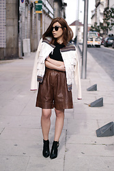 Priscila Diniz - Jacket, Shorts, Boots - Leather jacket