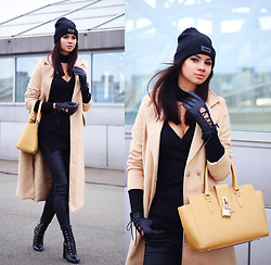 Anna Mour ♥ - Zaful Beige Longline Coat - Coat & Coated