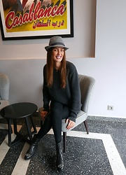 Amina Allam - Sandro Jumper, Mango Pants, Jimmy Choo Boots - Casablanca on my mind
