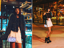 Indya S. - Poison Jam Black Neon Clutch - Tangerine Dream