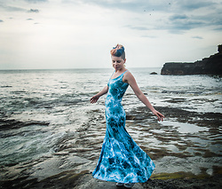 Carolyn W - Black Milk Clothing Maxi - Waves at Tanah Lot