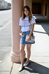Laura P -  - Revisited: Parisian Tee and Vintage Chloe Skirt