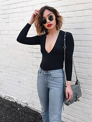 Elizabeth Strecher - Rebecca Minkoff Mac Bag, Ray Ban Sunglasses, American Apparel Top, American Apparel Denim - Red Hot ?