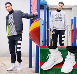 Chris Su - Adidas Jacket, Adidas Sweater, Adidas Pants, Adidas Sneakers - Childish King
